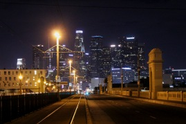 LA downtown view from 1st st